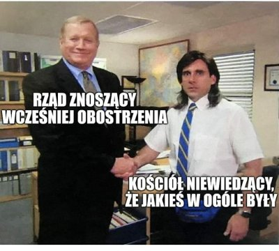 rzad-kosciol-obostrzenia-the-office-mem